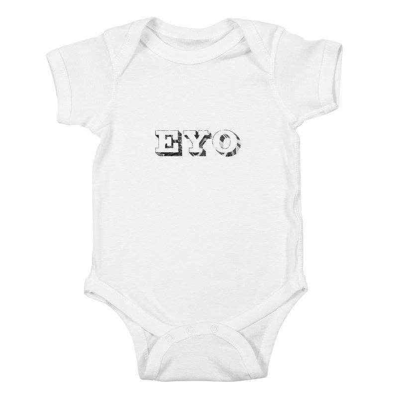 "EYO (Pronunciation ""A-O"") Kids Baby Bodysuit by malsarthegreat's Artist Shop"