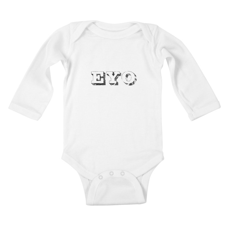"EYO (Pronunciation ""A-O"") Kids Baby Longsleeve Bodysuit by malsarthegreat's Artist Shop"
