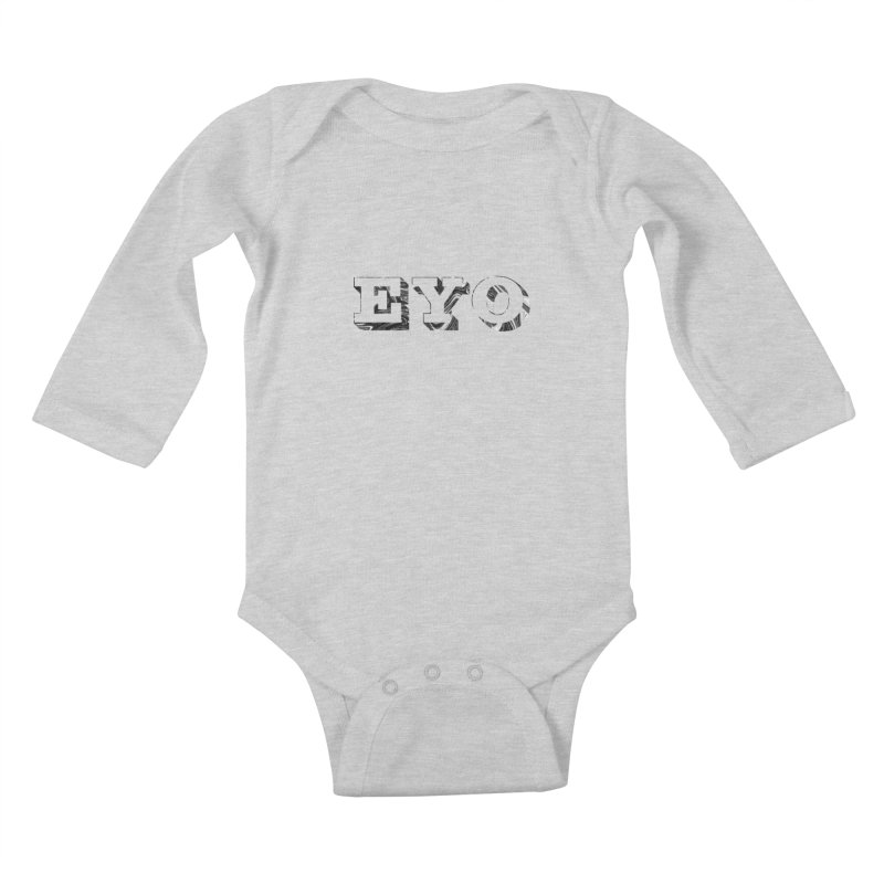 "EYO (Pronunciation ""A-O"") Kids Baby Longsleeve Bodysuit by malsarthegreat's Artist Shop"