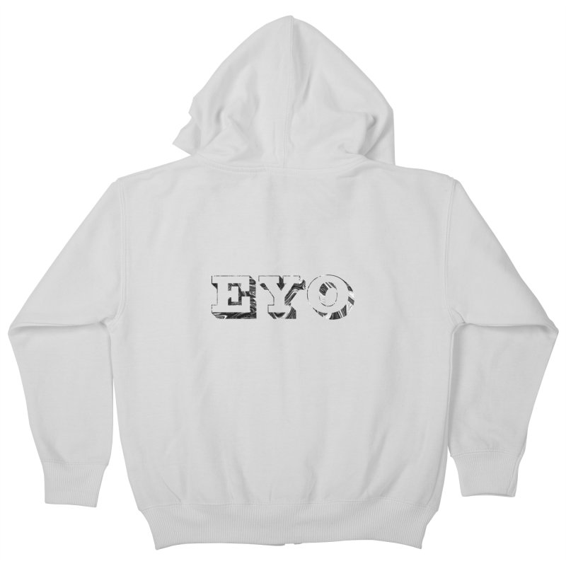 "EYO (Pronunciation ""A-O"") Kids Zip-Up Hoody by malsarthegreat's Artist Shop"