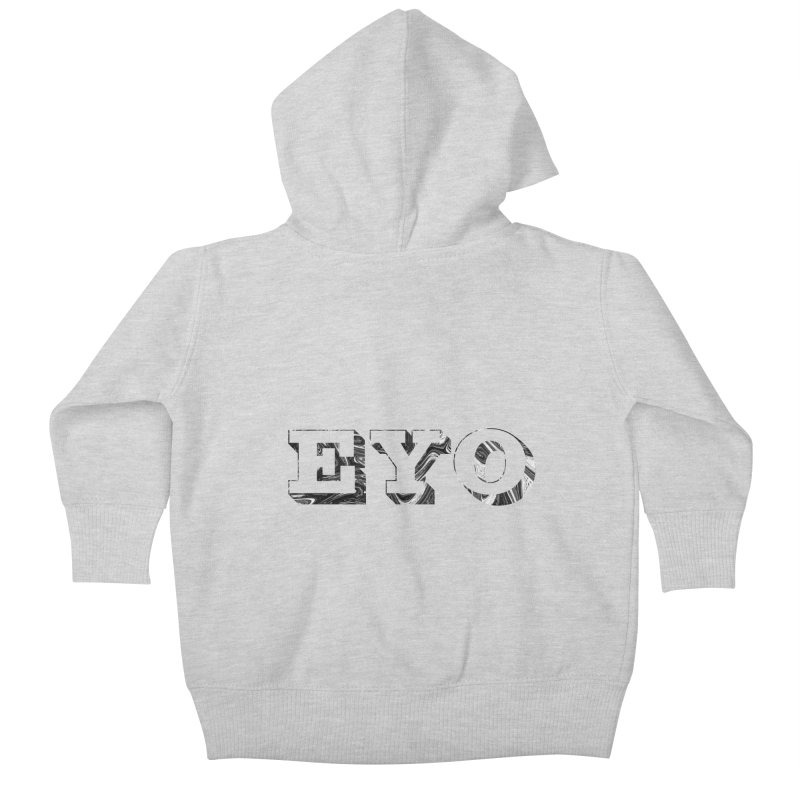 "EYO (Pronunciation ""A-O"") Kids Baby Zip-Up Hoody by malsarthegreat's Artist Shop"