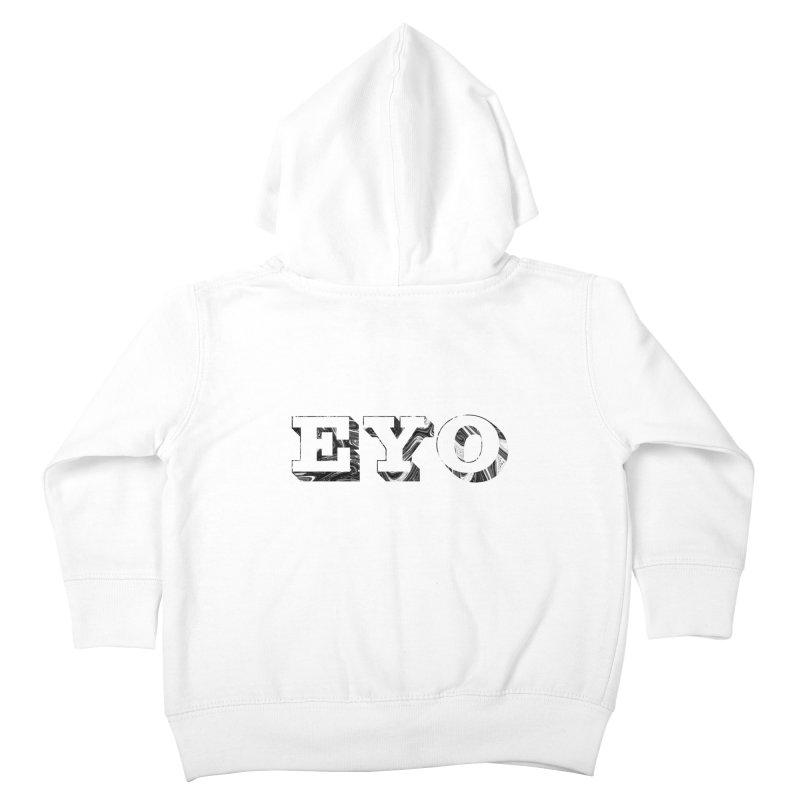 "EYO (Pronunciation ""A-O"") Kids Toddler Zip-Up Hoody by malsarthegreat's Artist Shop"