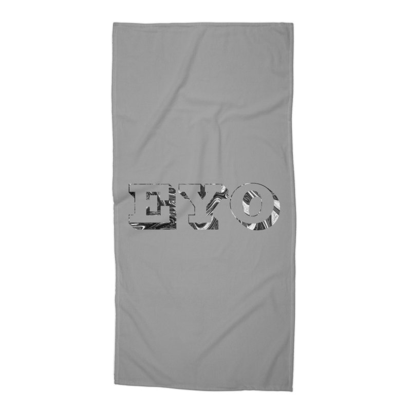 "EYO (Pronunciation ""A-O"") Accessories Beach Towel by malsarthegreat's Artist Shop"
