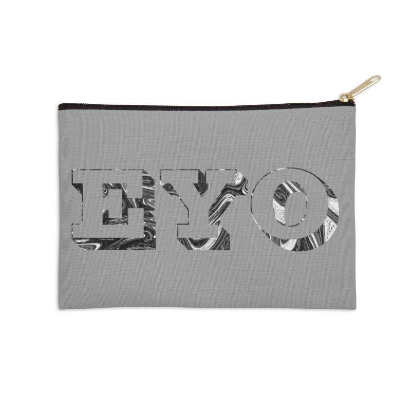 "EYO (Pronunciation ""A-O"") Accessories Zip Pouch by malsarthegreat's Artist Shop"