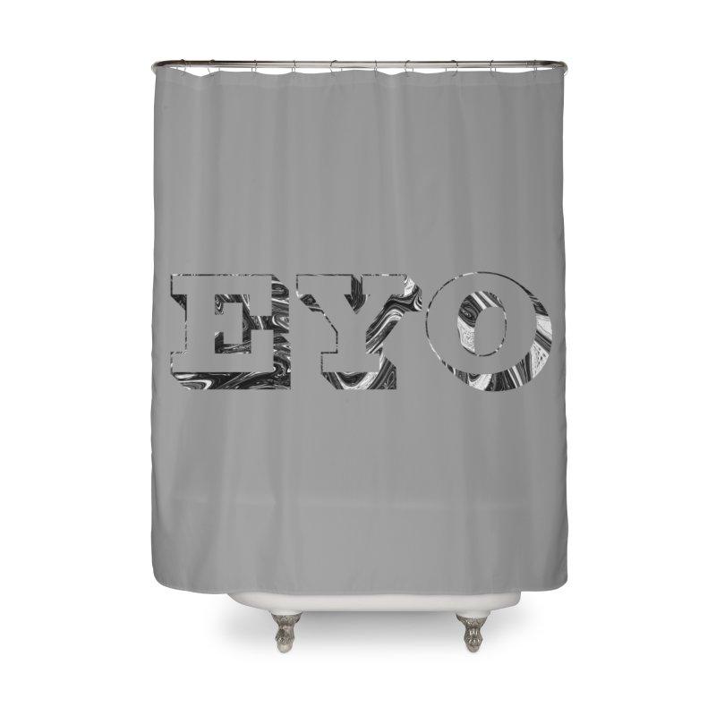 "EYO (Pronunciation ""A-O"") Home Shower Curtain by malsarthegreat's Artist Shop"