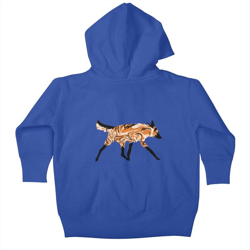 The Fox Kids Baby Zip-Up Hoody by malsarthegreat's Artist Shop