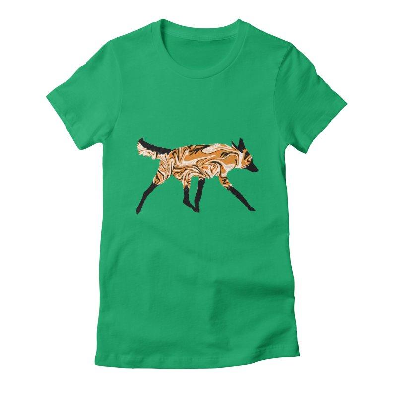 The Fox Women's Fitted T-Shirt by malsarthegreat's Artist Shop