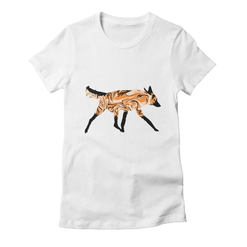 The Fox Women's Fitted T-Shirt by malsarthegreat's Artist Shop