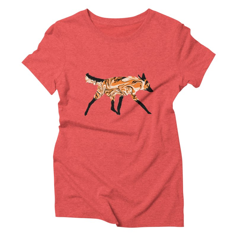 The Fox Women's Triblend T-Shirt by malsarthegreat's Artist Shop