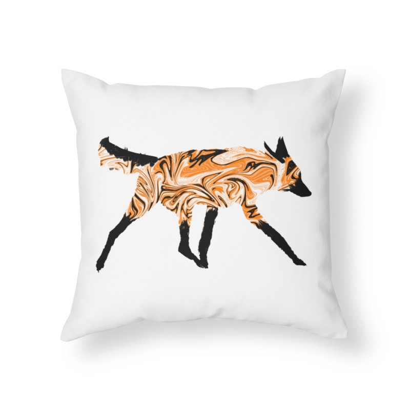 The Fox Home Throw Pillow by malsarthegreat's Artist Shop