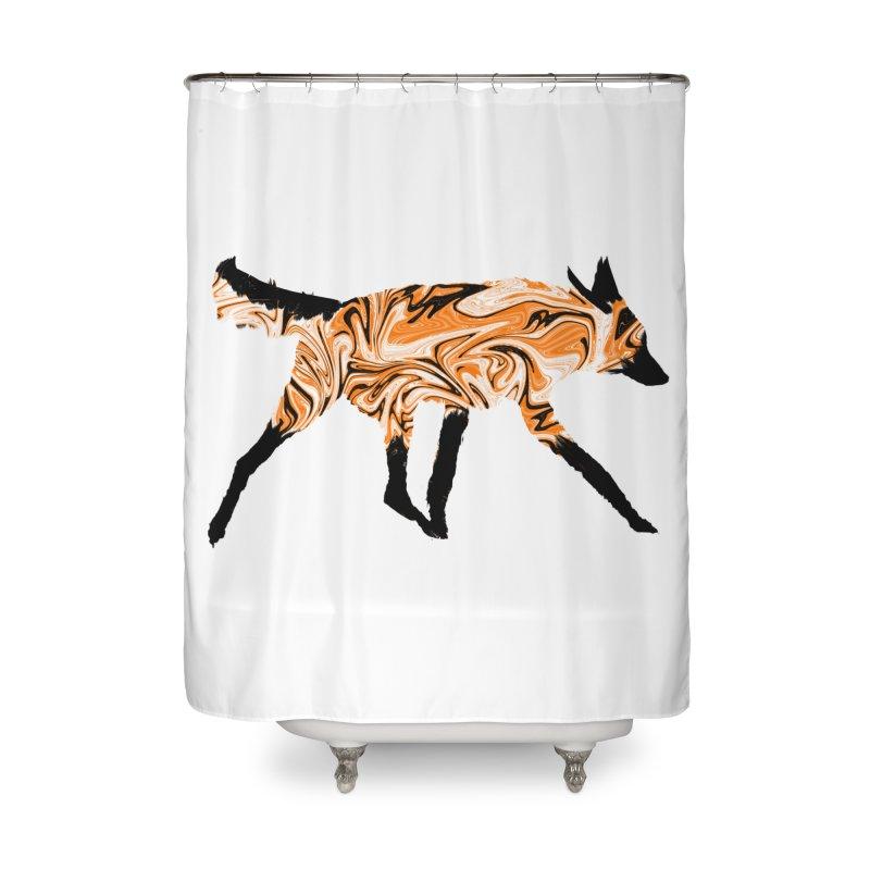 The Fox Home Shower Curtain by malsarthegreat's Artist Shop