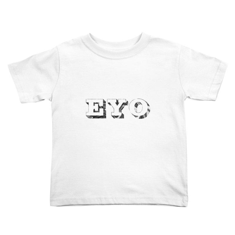 "EYO (WHITE TEXT) (Pronunciation ""A-O"") Kids Toddler T-Shirt by malsarthegreat's Artist Shop"