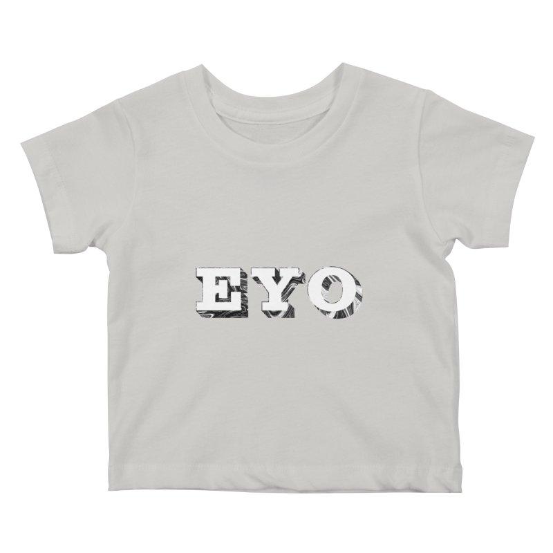 "EYO (WHITE TEXT) (Pronunciation ""A-O"") Kids Baby T-Shirt by malsarthegreat's Artist Shop"