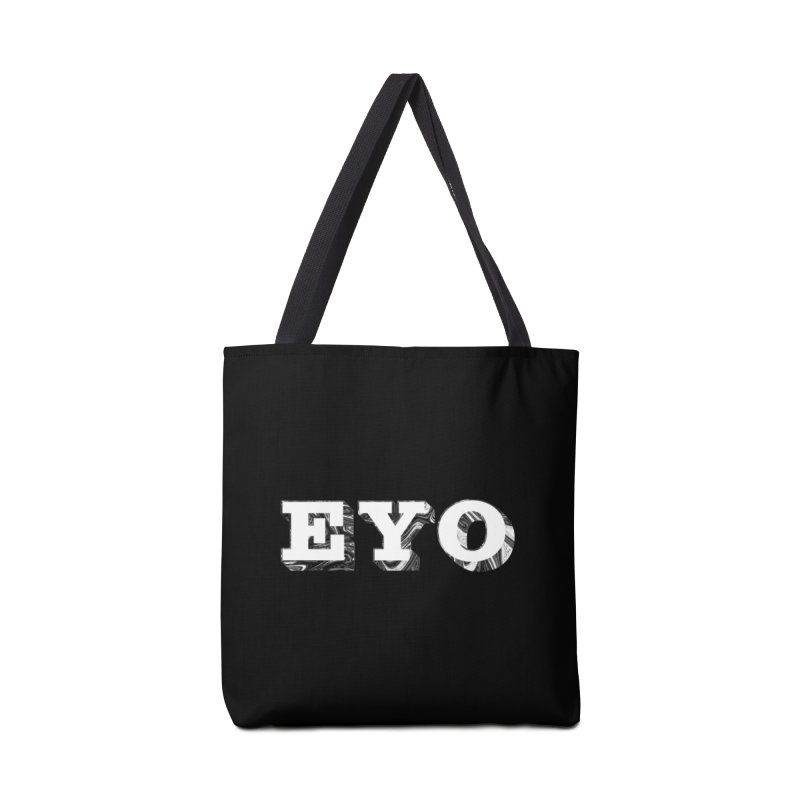 "EYO (WHITE TEXT) (Pronunciation ""A-O"") Accessories Bag by malsarthegreat's Artist Shop"