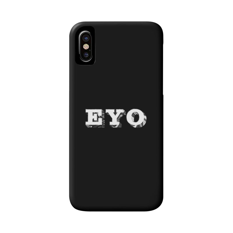 "EYO (WHITE TEXT) (Pronunciation ""A-O"") Accessories Phone Case by malsarthegreat's Artist Shop"