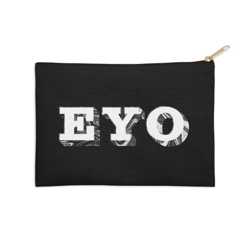 "EYO (WHITE TEXT) (Pronunciation ""A-O"") Accessories Zip Pouch by malsarthegreat's Artist Shop"