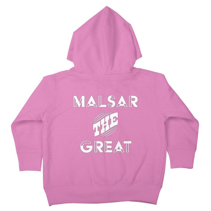 Malsar The Great Logo Kids Toddler Zip-Up Hoody by malsarthegreat's Artist Shop