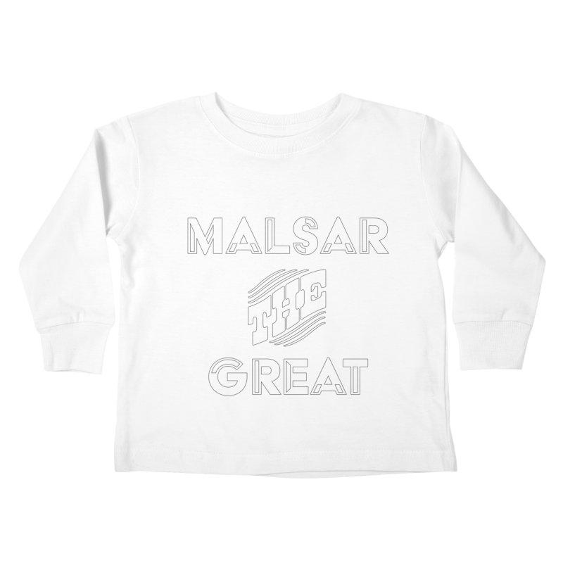Malsar The Great Logo Kids Toddler Longsleeve T-Shirt by malsarthegreat's Artist Shop