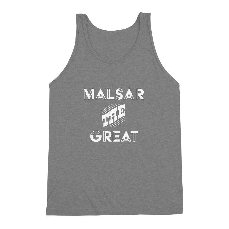 Malsar The Great Logo Men's Triblend Tank by malsarthegreat's Artist Shop