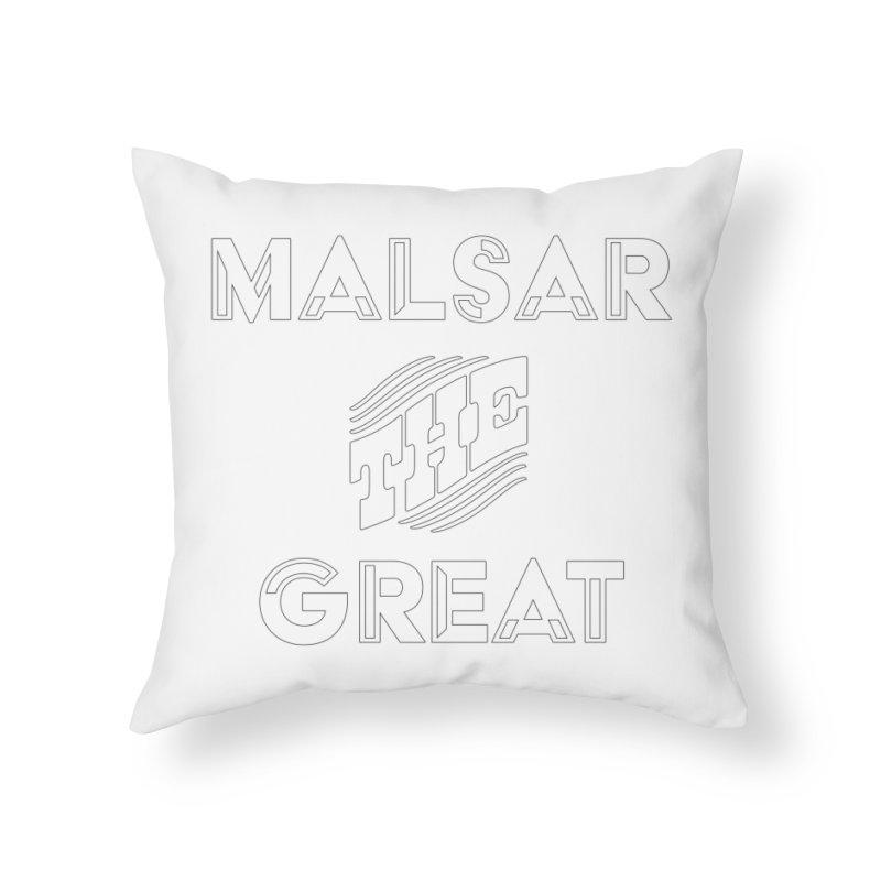 Malsar The Great Logo Home Throw Pillow by malsarthegreat's Artist Shop