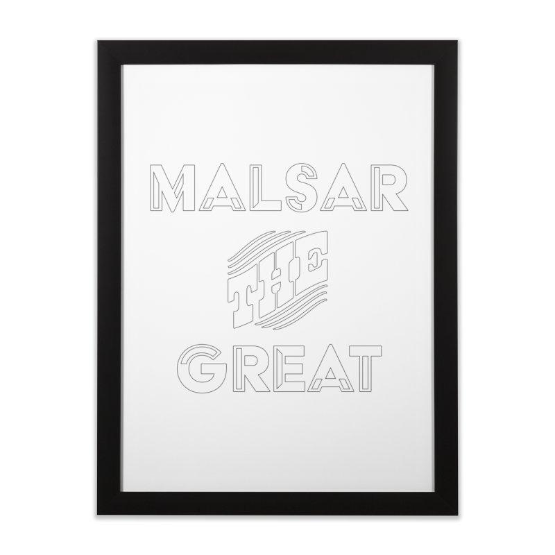 Malsar The Great Logo Home Framed Fine Art Print by malsarthegreat's Artist Shop