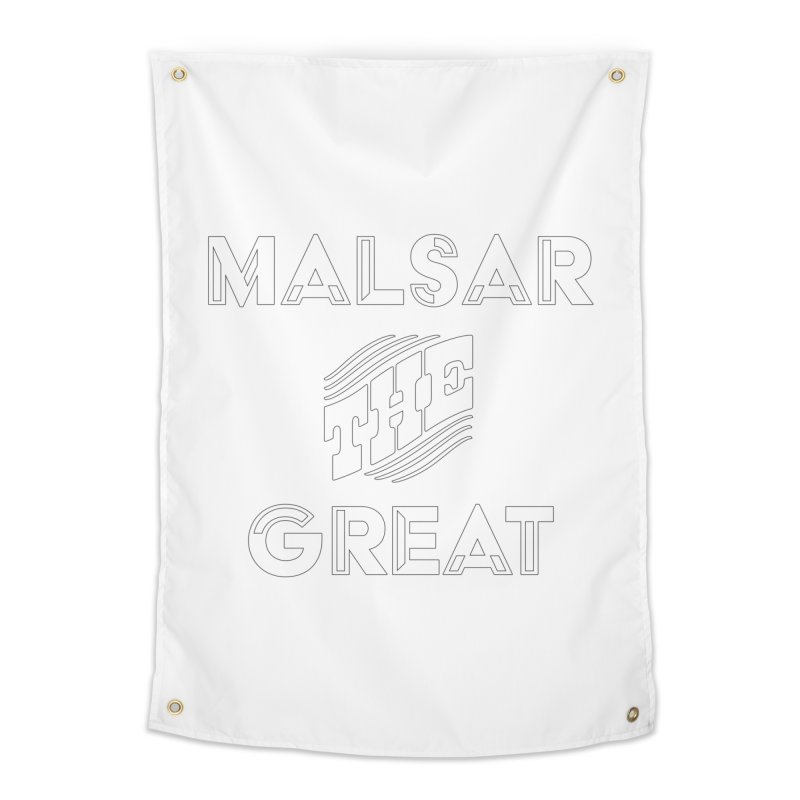 Malsar The Great Logo Home Tapestry by malsarthegreat's Artist Shop