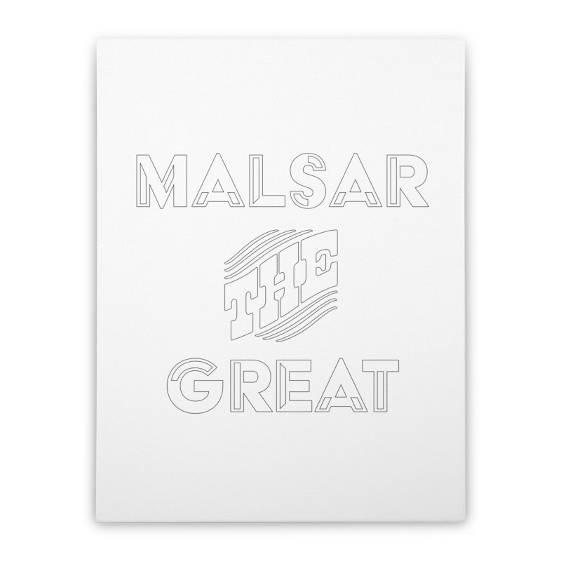 Malsar The Great Logo Home Stretched Canvas by malsarthegreat's Artist Shop