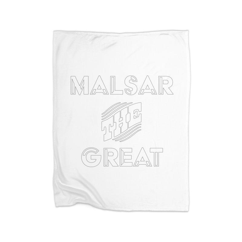 Malsar The Great Logo Home Blanket by malsarthegreat's Artist Shop
