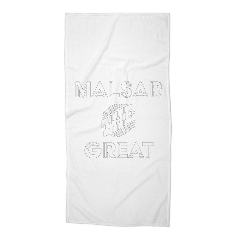 Malsar The Great Logo Accessories Beach Towel by malsarthegreat's Artist Shop