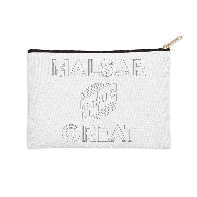 Malsar The Great Logo Accessories Zip Pouch by malsarthegreat's Artist Shop