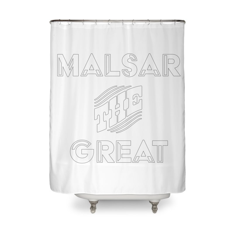 Malsar The Great Logo Home Shower Curtain by malsarthegreat's Artist Shop