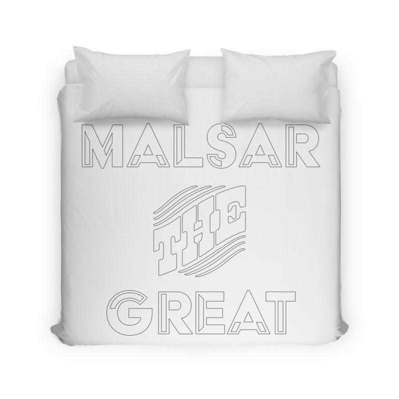 Malsar The Great Logo Home Duvet by malsarthegreat's Artist Shop