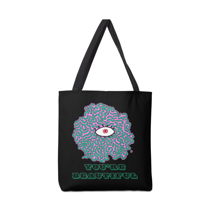 You're Beautiful (Black Only Design) Accessories Bag by malsarthegreat's Artist Shop