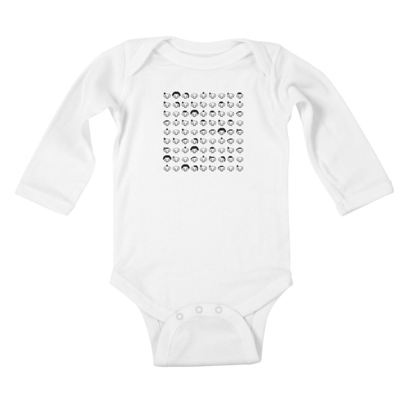 Many..Many Hats Kids Baby Longsleeve Bodysuit by malsarthegreat's Artist Shop