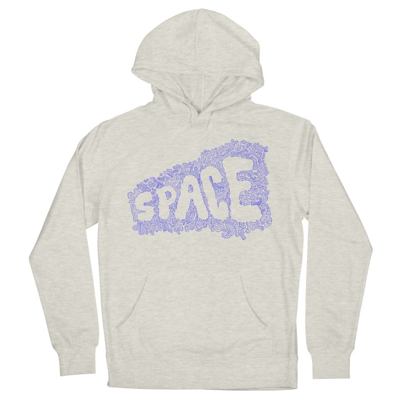 Negative Space (BLUE) Women's Pullover Hoody by malsarthegreat's Artist Shop