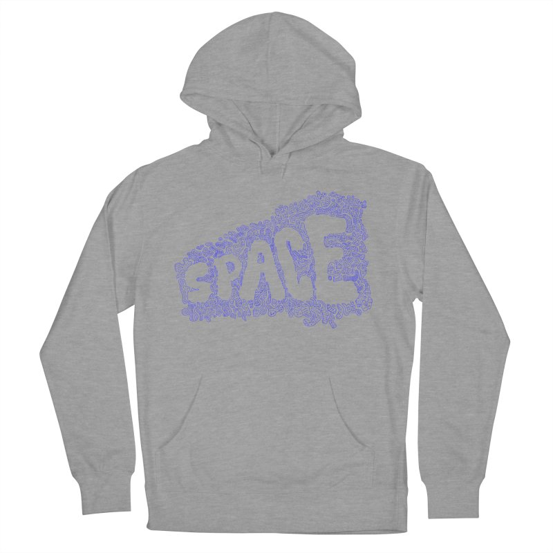 Negative Space (BLUE) Men's Pullover Hoody by malsarthegreat's Artist Shop