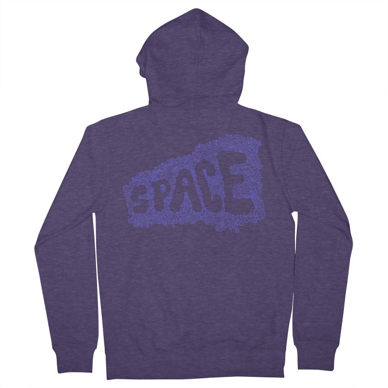 Negative Space (BLUE) Men's Zip-Up Hoody by malsarthegreat's Artist Shop