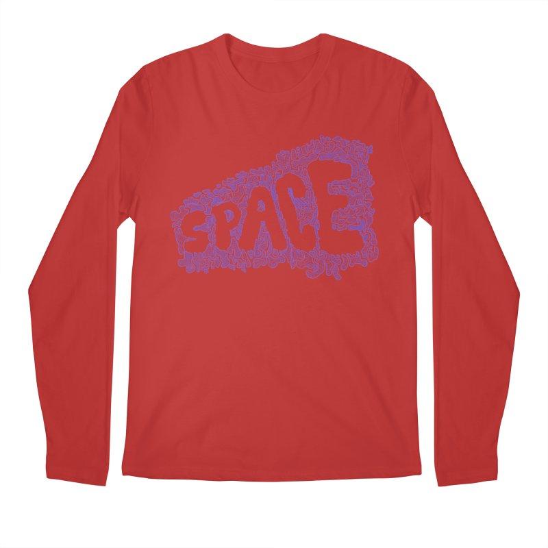Negative Space (BLUE) Men's Longsleeve T-Shirt by malsarthegreat's Artist Shop