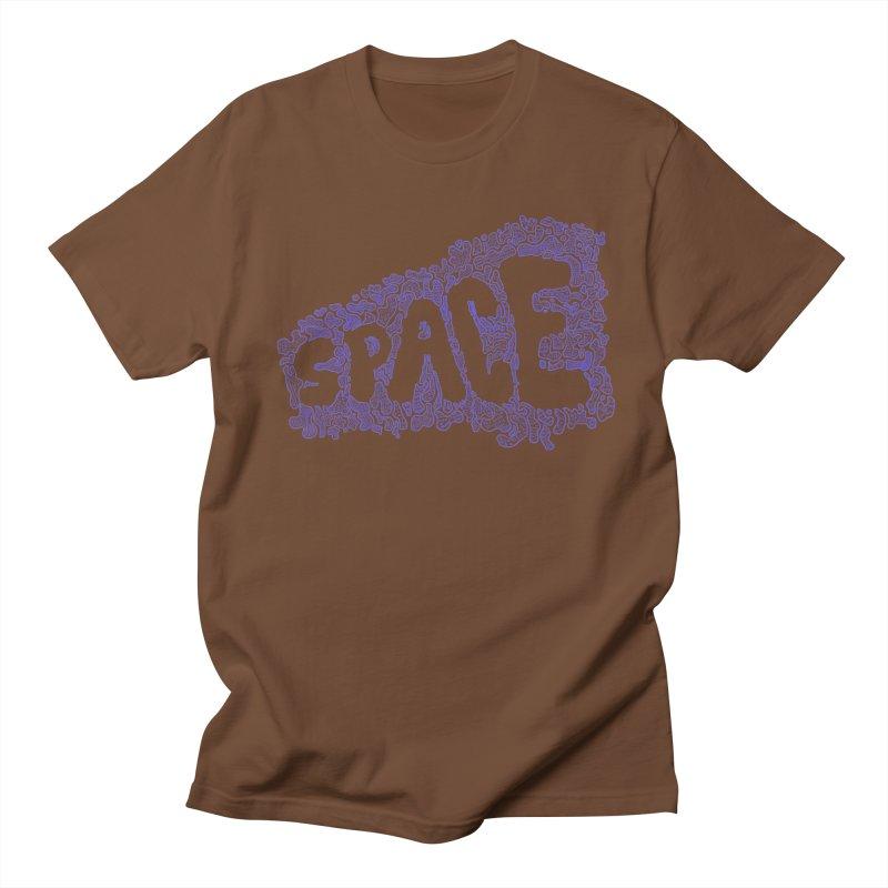Negative Space (BLUE) Men's T-shirt by malsarthegreat's Artist Shop