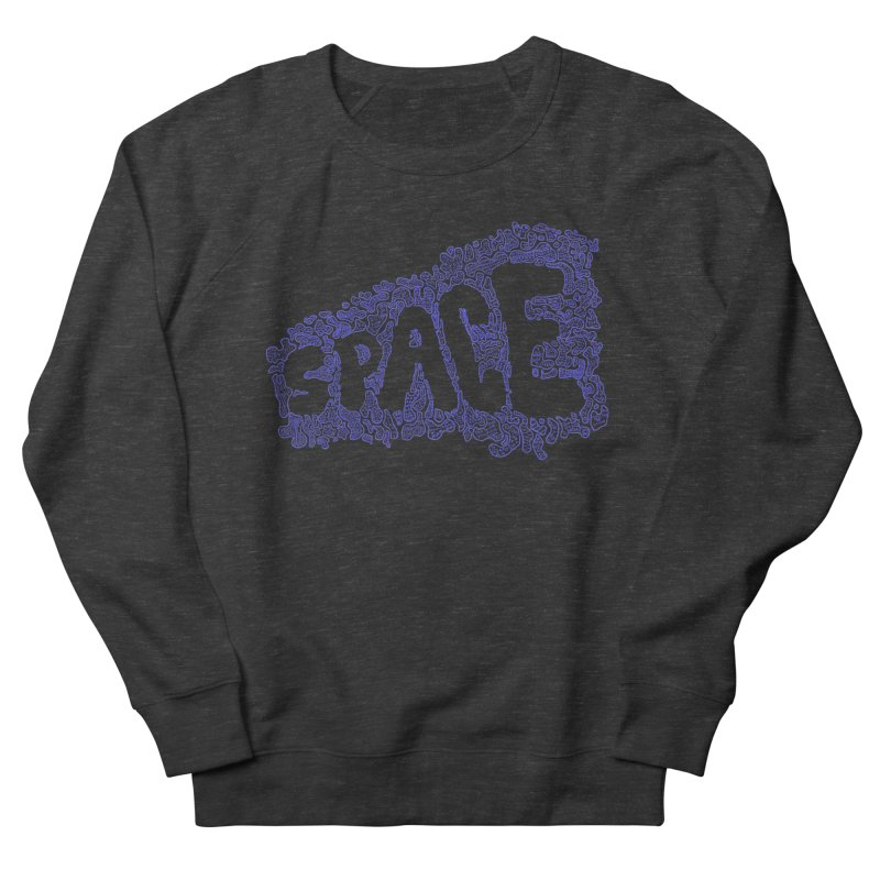 Negative Space (BLUE) Women's Sweatshirt by malsarthegreat's Artist Shop