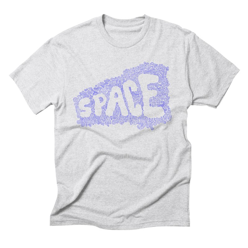 Negative Space (BLUE) Men's Triblend T-Shirt by malsarthegreat's Artist Shop