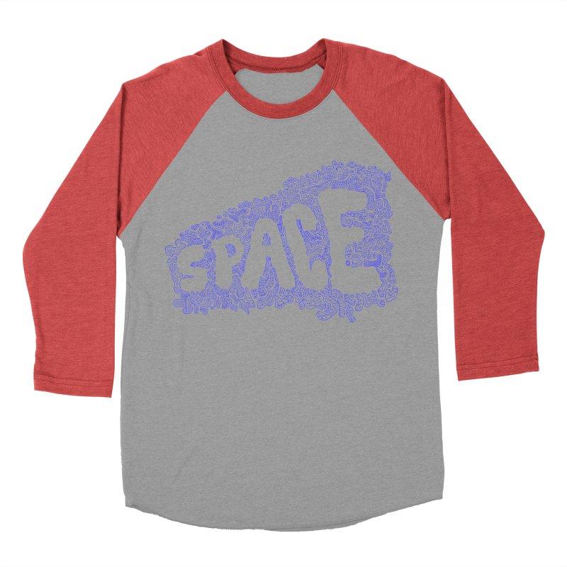 Negative Space (BLUE) Men's Baseball Triblend T-Shirt by malsarthegreat's Artist Shop