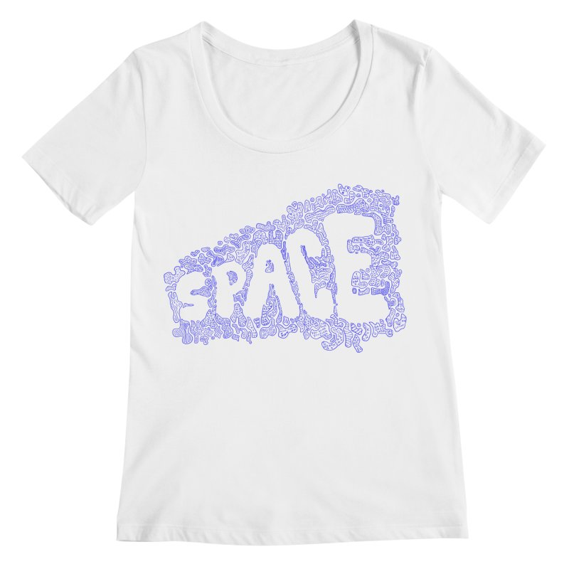 Negative Space (BLUE) Women's Scoopneck by malsarthegreat's Artist Shop