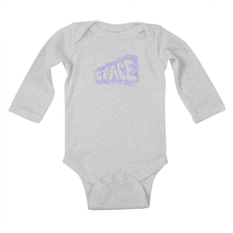 Negative Space (BLUE) Kids Baby Longsleeve Bodysuit by malsarthegreat's Artist Shop