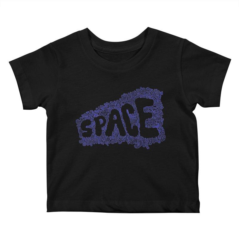 Negative Space (BLUE) Kids Baby T-Shirt by malsarthegreat's Artist Shop