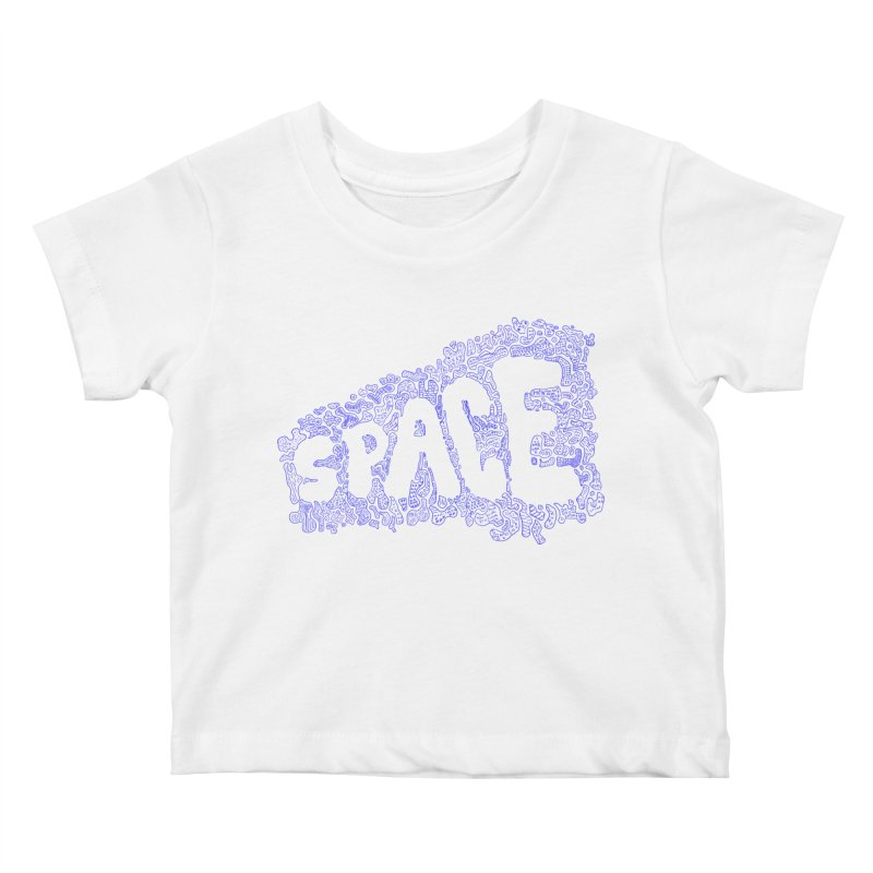 Negative Space (BLUE) Kids Baby T-Shirt by malsarthegreat's Artist Shop