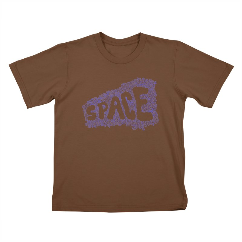 Negative Space (BLUE) Kids T-Shirt by malsarthegreat's Artist Shop