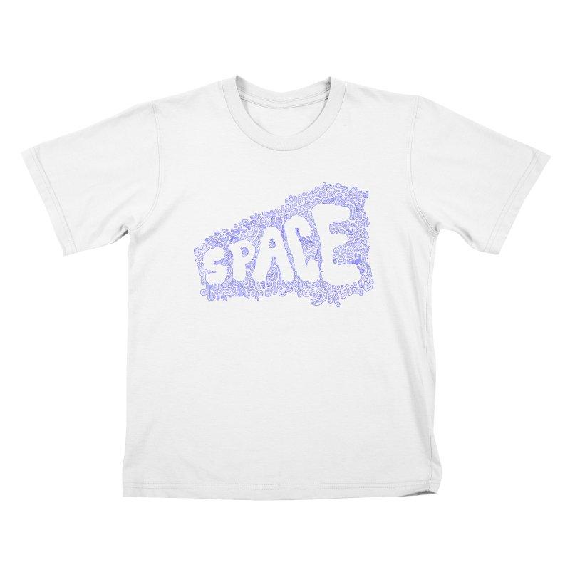 Negative Space (BLUE) Kids T-shirt by malsarthegreat's Artist Shop