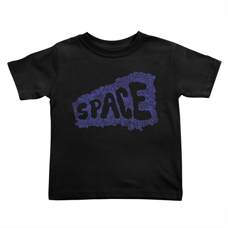 Negative Space (BLUE) Kids Toddler T-Shirt by malsarthegreat's Artist Shop