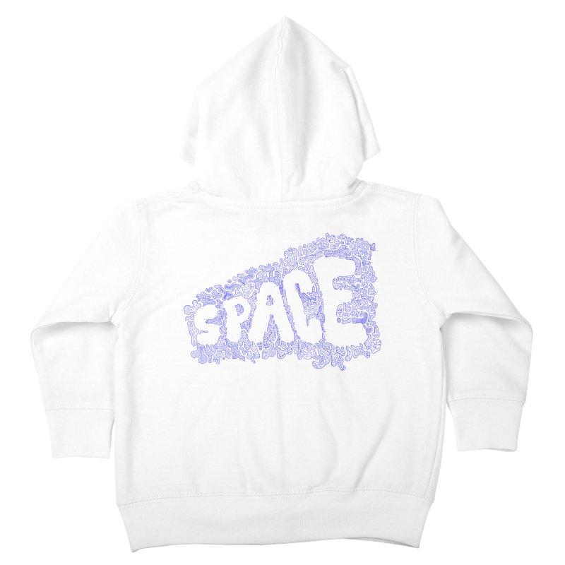 Negative Space (BLUE) Kids Toddler Zip-Up Hoody by malsarthegreat's Artist Shop